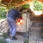 Anagama kiln firing