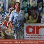 Anna Georghiou in her Studio 2010