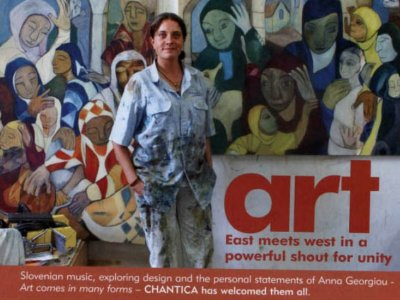Anna Georghiou in her Studio 2010