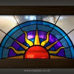 Art Deco fanlight window