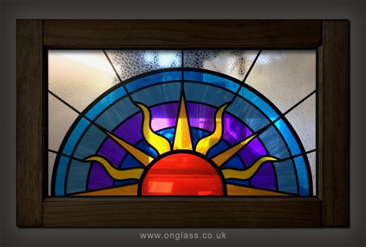Art Deco fanlight window