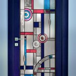 Art Deco Jewelled & Bevelled full toughened safety glass door.