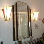 Art Deco - mirror & lamp shades.