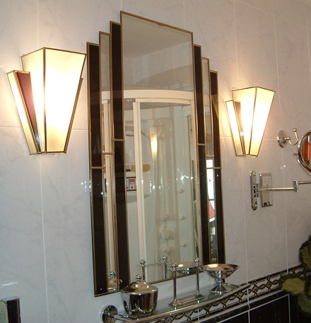 Art Deco - mirror & lamp shades.