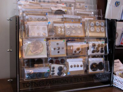 Bespoke button display cabinet