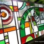 Bevel & Jewel stained glass window