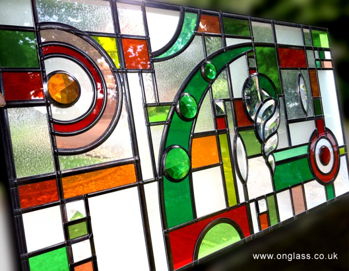 Bevel & Jewel stained glass window