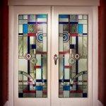 Bevel & Jewelled door glass