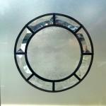 Bevel glass port hole.