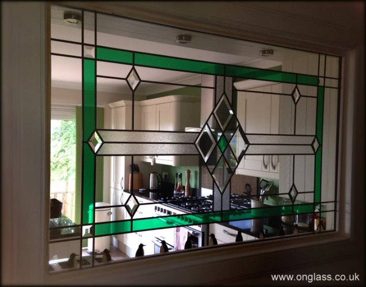 Bevel glass window design