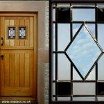 Bevel glass windows enhance this stable door.