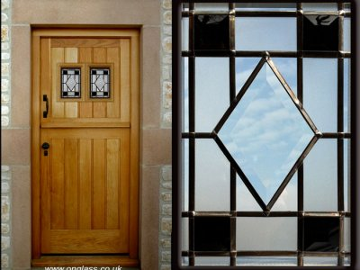 Bevel glass windows enhance this stable door.