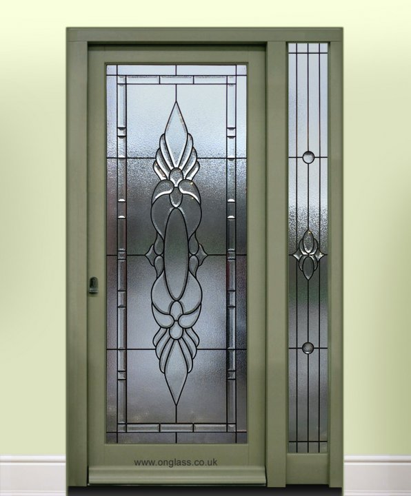 Bevelled glass door by onglass.co.uk