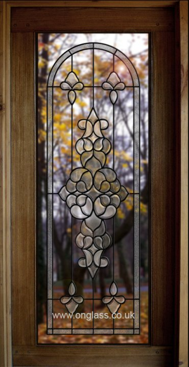 #Bevelled #glass #door