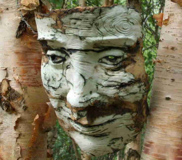 birch tree mask