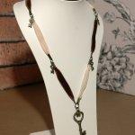 Brown & Cream Velvet Necklace