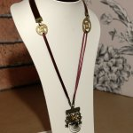 Brown Velvet & Satin Steampunk Necklace