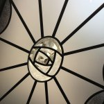 Charles Rennie Mackintosh art bevelled glass rose