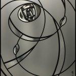 Charles Rennie Mackintosh art rose glass