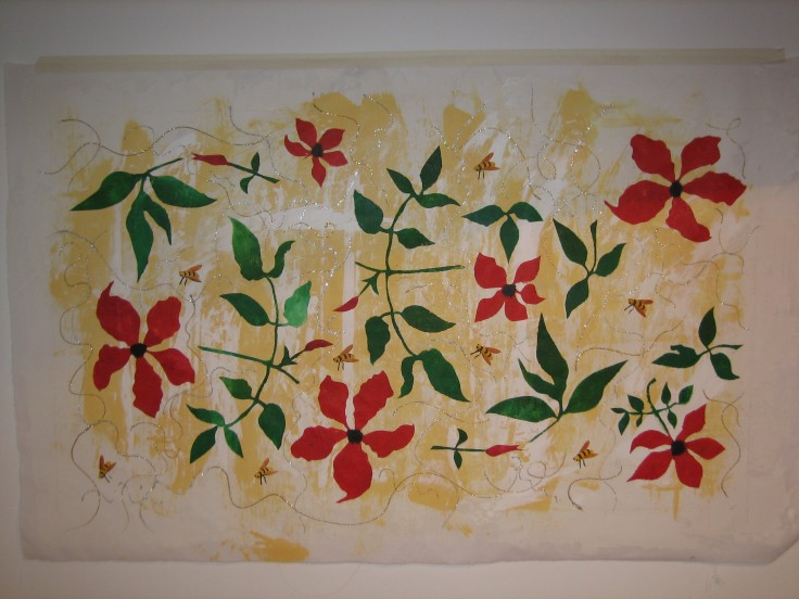 Clematis Flowers and Leaves - Artwork Commission 2009