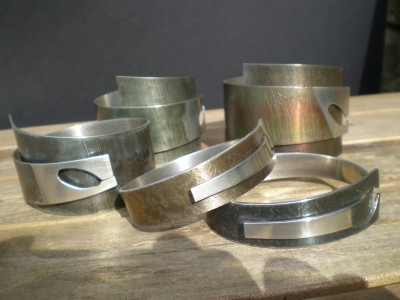 Coloured Pewter Bracelets