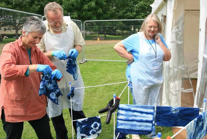 Contemporary Craft Fair - Bovey Tracey 2012 - Indigo Dying