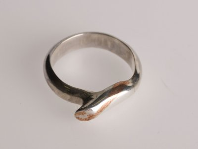 Copper and Silver Twist Ring