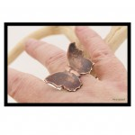 Copper Butterfly Silver Ring.