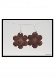 Copper Daisy Earrings. 2