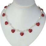 Coral and Pearl Necklace Val 016