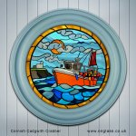 Cornish Cadgwith Crabber port hole round window