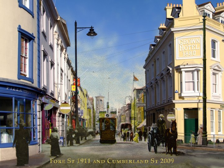 cumberland street 2009 and fore street 1911 - detail