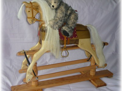 Doll's Rocking Horse complete with Bear