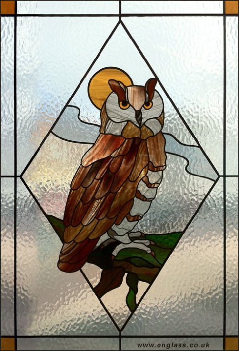 Eagle Owl bird window.