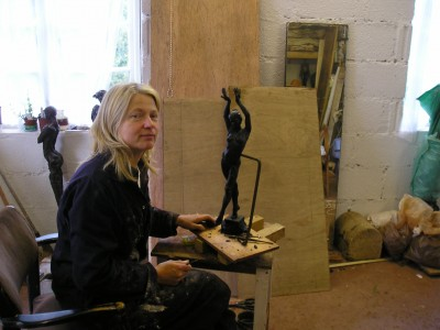 Elisabeth in her studio