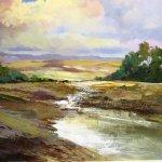 Evening Meadow - Devon by Marion Sawl