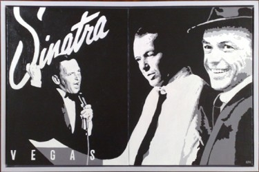 Frank Sinatra (acrylic on canvas) (a commissioned piece)