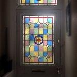 Front door and fanlight window