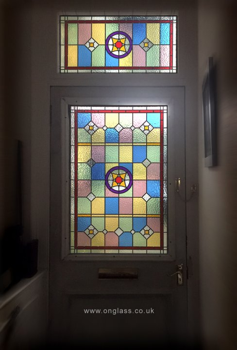 Front door and fanlight window