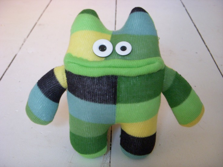 Green sock monster