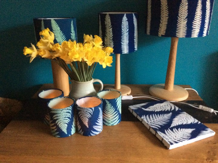 Hand made Sun Printed Lamp shades