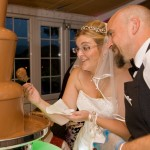 Hard at work!  Another happy bride!