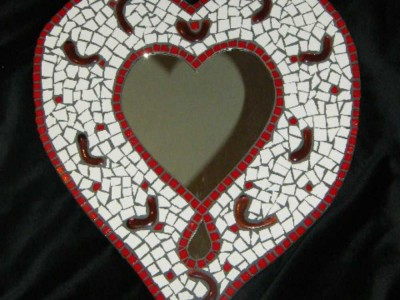 Heart Mosaic Mirror