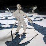 Helen Snell, Ice Exporer 1, paper sculpture