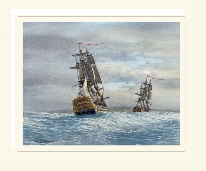 HMS Victory with Euryalus