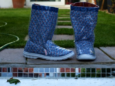 Home-made wellies.
