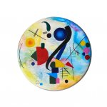 Kandinsky Inspired Drumhead Painting