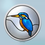 Kingfisher round window