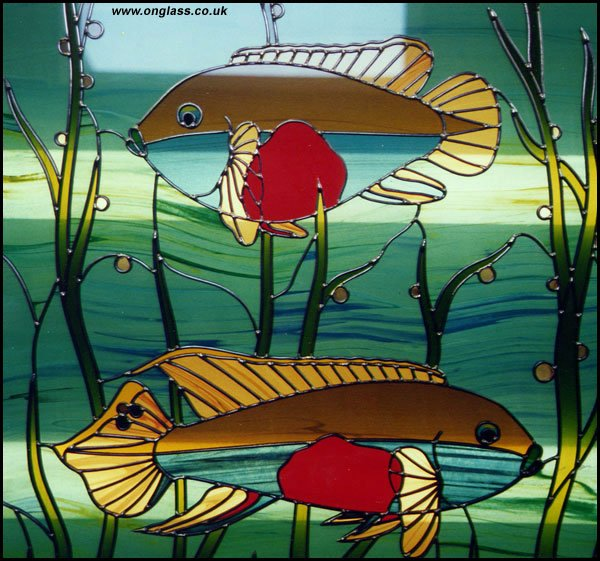 Kribensis stained glass Fish