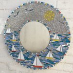 Large round boaty mirror